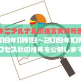 【キニナルナルの運営実績報告】1年間(2018年11月1日~2019年10月31日)のアクセス数の推移を公開します!